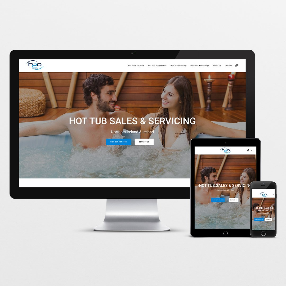 Website design and development for H2o Hot Tubs Ireland by Ark Digital Media